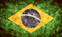 Brazil grunge flag. Item from my vintage, retro flags collection