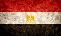 Egypt grunge flag. Item from my vintage, retro flags collection