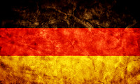 Germany grunge flag. Item from my vintage, retro flags collection