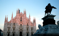 Milan Cathedral, Vittorio Emanuele II statue. Italy