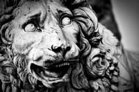 Ancient sculpture of The Medici Lion. Florence, Italy