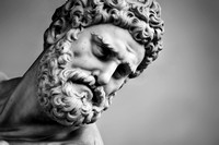 Ancient sculpture of Hercules and Nessus. Florence, Italy. Head close-up