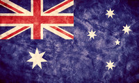 Australia grunge flag. Item from my vintage, retro flags collection