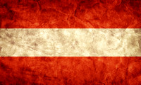 Austria grunge flag. Item from my vintage, retro flags collection