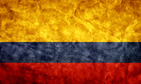 Colombia grunge flag. Item from my vintage, retro flags collection
