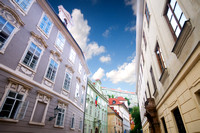 Prague. Old architecture, charming street