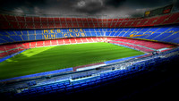 The Camp Nou stadium in Barcelona, Spain