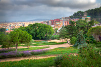 Park Guell, view on Barcelona, Spain