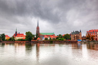 Wroclaw, Poland. Ostrow Tumski and Oder River