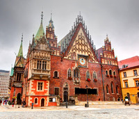 Wroclaw, Poland. The Town Hall on market square. Silesia