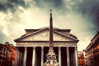 The Pantheon in Rome, Italy.  Vintage