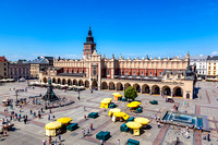 Cracow, Poland. Old town market square and Cloth Hall