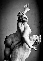 Ancient sculpture of The Rape of the Sabine Women. Florence, Italy