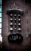 Amsterdam old town bells clock