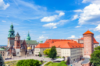 Wawel, royal castle and cathedral in Cracow, Poland