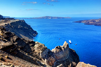 Cliff and rocks of Santorini island, Greece. View on Caldera