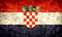 Croatia grunge flag. Item from my vintage, retro flags collection